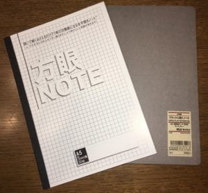 メモの魔力 おすすめノートとペンで自己分析実践!オリジナルメモ帳は_ノート並べた写真
