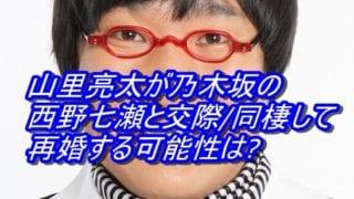 #山里亮太 が#乃木坂 の#西野七瀬 と交際_同棲して再婚する可能性は_アイキャッチ