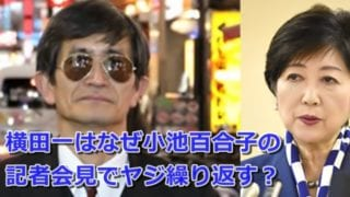 横田一って誰なぜ小池百合子の記者会見でヤジや不規則発言を繰り返す_ai
